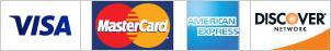 VISA, MasterCard, American Express, Discover